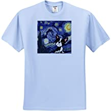 and Blue Swag American Flag Photograph of a red - Adult T-Shirt XL 3dRose Stamp City Holiday ts/_320149 White