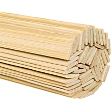 Medium-5 Inches X 0.1-0.2 Inches 100pcs Bamboo Sticks for DIY Crafts Photo Props and Craft Supplies
