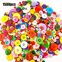 Used for Sewing Scrapbook and DIY Craft Buttons 15mm // 0.6in 25mm // 1in Black, Large Medium Small YIZIQSS 200 PCS Sewing Resin Button Round 4 Hole Craft Button 20mm // 0.78in
