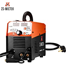 MIG Welder Flux Core Wire Automatic Feed 210 AMP 110V//220V MIG210 Lift Tig Arc Stick Mig Welding Machine Gas//Gasless Available for 1KG//5KG Wire
