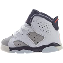 outlet store a999d 8affd Nike Toddler Jordan 6 Retro Tinker White Infrared 23-Neutral Grey (8 M