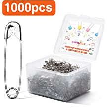 450pcs 15 Colors Assorted/Bulb Safety Pins Pear Shaped Pins Metal Safety Pins Knitting/Stitch Markers Sewing Making with Storage Box