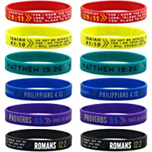 Church Events 150 Pieces Gift Ideas Best Friends Forever Youth Groups Souvenirs Inspirational Messages Worship Concert KCO Brands Assorted Religious Friendship Bracelet Fundraising Campaign
