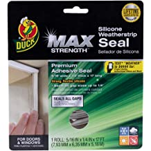 Duck Brand Heavy-Duty Self Adhesive Weatherstrip Seal for Extra Large Gap 282436 1//2-Inch x 5//16-Inch x 10-Feet 1 Seal Pack of 3