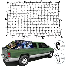 AndyGo Cargo Net Truck Bed Envelope Style Trunk Cargo Organizer Fit for Ford F150 Raptor F250 F350 F450