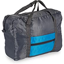 Blue Sports Yoga and Storage Gym Vacation Foldable Lightweight Travel Weekender Duffle Bag for Carry On Luggage