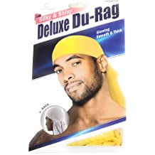 Shiny /& Silky Deluxe DuRag Du Rag Set of 2// Yellow /& Lavender Smooth /& Thick