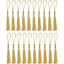 DIY Craft Accessory Monrocco 200pcs Silky Handmade Soft Craft Mini Tassels with Loops for Jewelry Making Bookmarks Souvenir