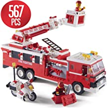 Stem Building Toys for 4,5,6,7,8,9,10,11,12 year old Boys and up 567 Blocks Stem Toys Gift toys Firetruck Toys for Boys Building Kit set Building Bricks Building Fire Truck Toy for Kids ages...