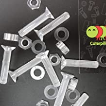 M6 x 20mm Nuts /& Washers Plastic Bolts 50 x Black Nylon socket head 15//64 x 25//32 plastic machine screws