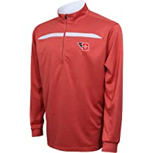 X-Large Crable Adult NCAA Mens Quarter Zip with Neck Panel Heather Gray//Black