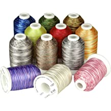 Simthreads 28 Variegated Color Embroidery Machine Thread 1100 Yards Each for Janome Brother Pfaff Babylock Singer Bernina Husqvaran and Most Sewing Embroidery Machines