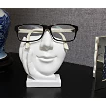 913245ddd JewelryNanny Artsy Face Eyeglass Holder Stand - Sculpted Nose for Eyeglasses  or Sunglasses, Life is
