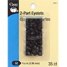 1//4-Inch 15-Count Dritz 33575-35 Large Eyelets Gilt