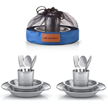 Toygogo Foldable Stainless Steel Spoon Camping Hiking Backpacking Tableware Cutlery